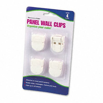 Advantus Corp. Panel Wall Clips for Fabric Panels, Standard Size, 4/Pack