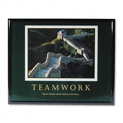 "Advantus Corp. ""Teamwork/Great Wall Of China"" Framed Motivational Print, 31-1/2w x 25-1/2h"
