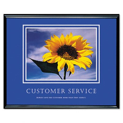 Advantus Corp. Customer Service Framed Motivational Print, 30 X 24