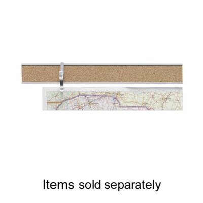 "Advantus Corp. Map Rail, 1""x8', Satin Aluminum"