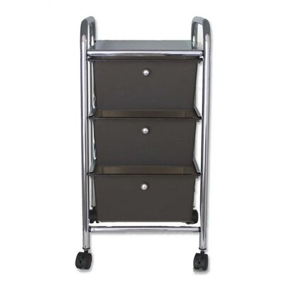 "Advantus Corp. 3-Drawer Organizer, w/ Casters, 13""x15-1/4""x26, Smoke"