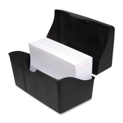 "Advantus Corp. Index Card Holders, 5""x8"", Black"