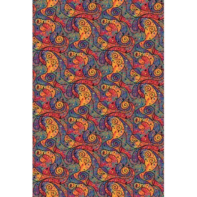 Joy Carpets Fluorescent Lava Novelty Rug