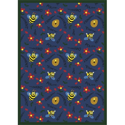 Joy Carpets Educational Bee Attitudes Kids Rug