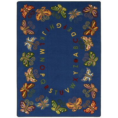 Joy Carpets Educational Butterfly Delight Kids Rug