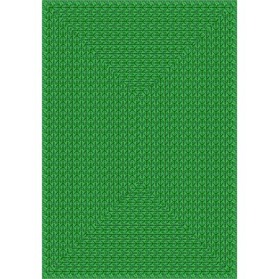 Joy Carpets Whimsy Legacy Green Print Rug