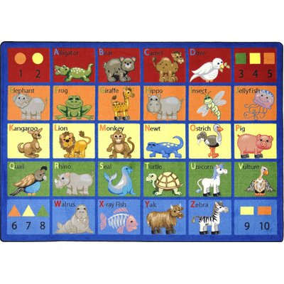 Joy Carpets Educational Animal Phonics Kids Rug