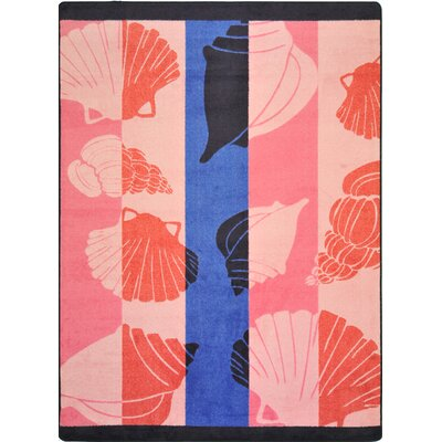 Joy Carpets Summer Solstice Seashell Lagoon Novelty Rug