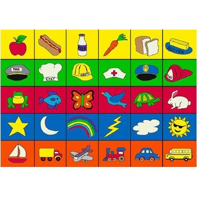 Joy Carpets Educational Categories Kids Rug