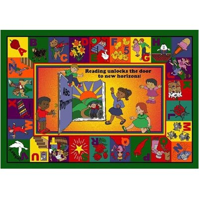 Joy Carpets Educational Read and Rhyme Kids Rug