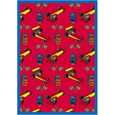 Joy Carpets Just for Kids Pit Stop Kids Rug