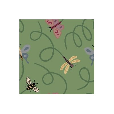 Joy Carpets Nature Green Wing Dings Novelty Rug
