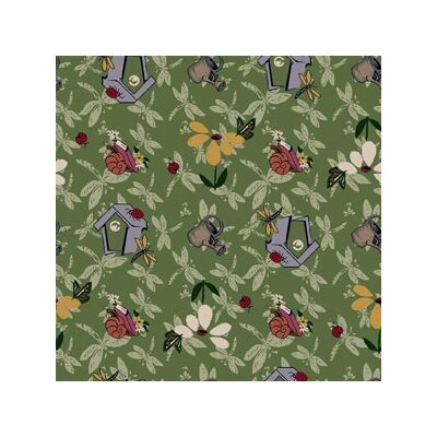 Joy Carpets Nature Green Flower Gardens Novelty Rug
