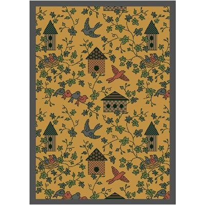 Joy Carpets Nature Gold Sweet Tweet Novelty Rug