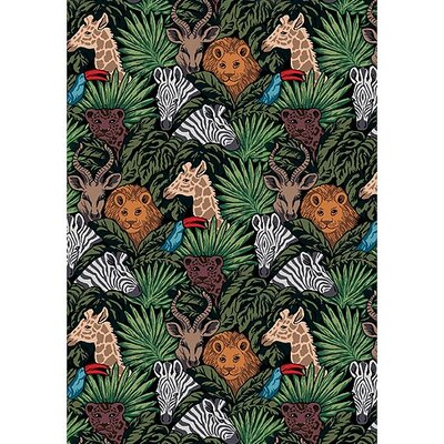 Joy Carpets Just for Kids Kid Essentials Animal Hide and Seek Kids Rug