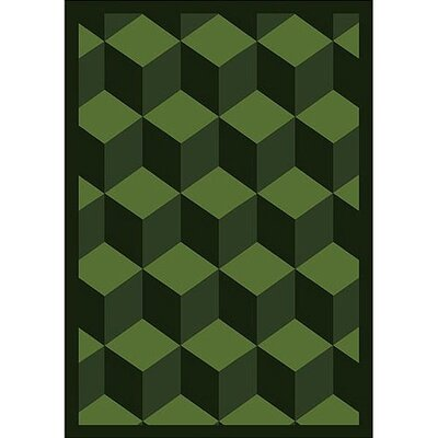 Whimsy Family Legacies Highrise Emerald Green Rug