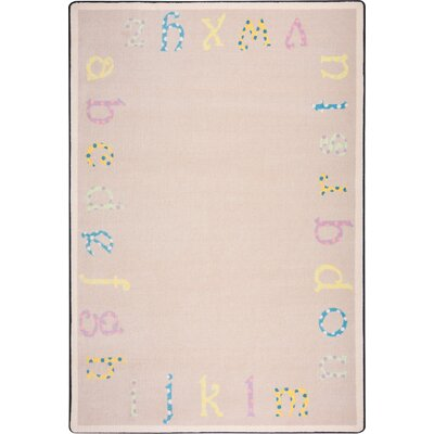 Joy Carpets Kid Essentials Multi Polka Dot ABC's Kids Rug
