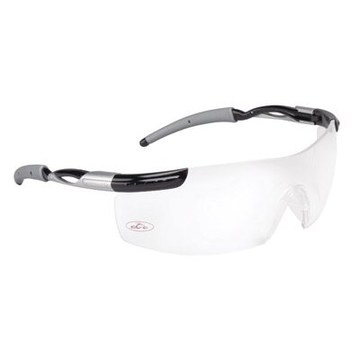 Aearo Technologies County Choppers™ OCC 800 Style Safety Glasses With Black And Silver Frame And Clear Anti-Fog Lens