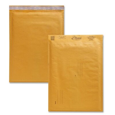 "Alliance Rubber Envelopes,No. 5,Bubble Cushioned,10-1/2""x16"""