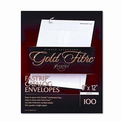 AMPAD Corporation Gold Fibre Fastrip Catalog Envelope, Side Seam, 9 X 12, 100/Box