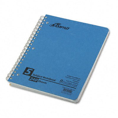AMPAD Corporation Oxford Multi-Subject Notebook, College/Medium Rule, Letter, 240 Sheets
