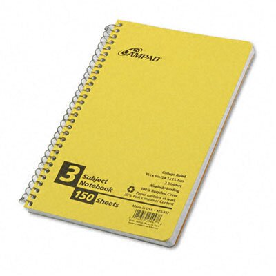 AMPAD Corporation Earthwise By Oxford Small Size Notebook, College/Medium Rule, 6 X 9-1/2, 150 Sheets/Pad