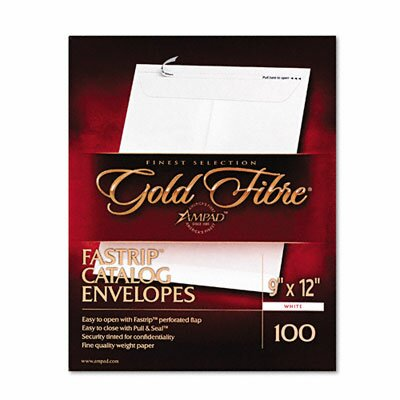 AMPAD Corporation Gold Fibre Fastrip Catalog Envelope, Side Seam, 9 X 12, 100/Box