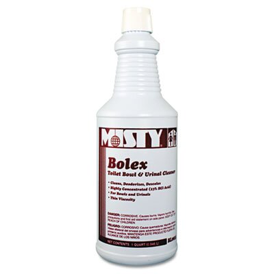 AmRep Misty Bolex 23 Percent Hydrochloric Acid Bowl Cleaner, 32 Oz, 12/Carton