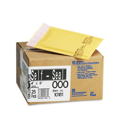 Sealed Air Corporation Jiffylite Self-Seal Mailer, Side Seam, #000, Golden Brown, 25/carton