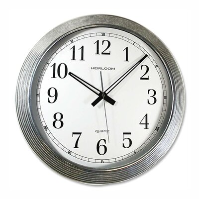 "Artistic Products LLC Wall Clock, Galvanized Metal, 16"", Silver"