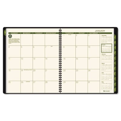 At-A-Glance Recycled Monthly Professional Planner, 13 Months (Jan-Jan), Black Cover, 2014