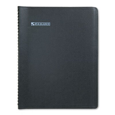 At-A-Glance QuickNotes Unruled Monthly Planner, 8-1/4 x 10-7/8, Black, 2014