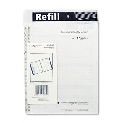 At-A-Glance Monthly Planner Refill, 6-7/8 x 8-3/4, 2013