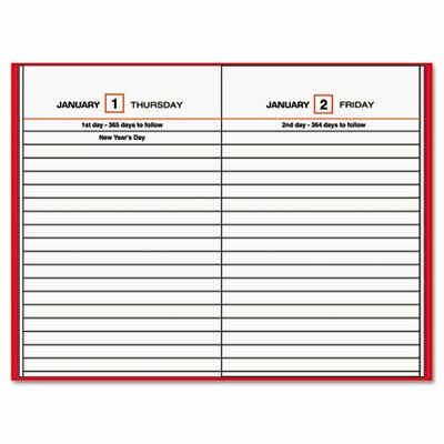 At-A-Glance Standard Diary Brand Hardbound Daily Reminder Book, RD, 4-3/16 x 6-1/2, 2012