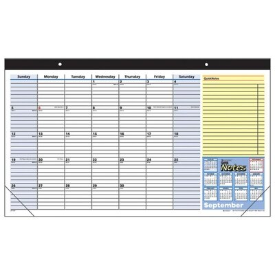 "At-A-Glance Monthly Desk Pad, Ruled Blocks, July-July, 1 Page per Month, 17-3/4""x10-7/8"", 2013"