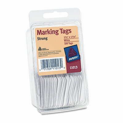 Avery Consumer Products Paper Marking Tags, 1 3/4 X 1 3/32 (100/Pack)