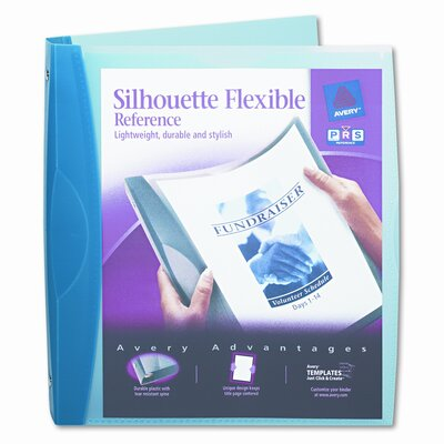 "Avery Consumer Products Silhouette Flexible Poly View Binder, 1"" Capacity"