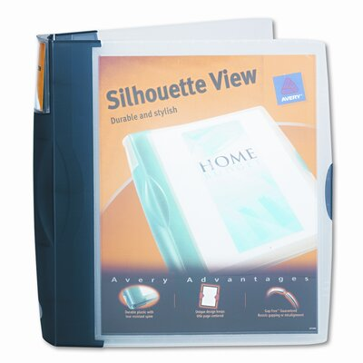 """Avery Consumer Products Silhouette Poly View Binder with Inside Pocket, 1-1/2"""" Capacity"""