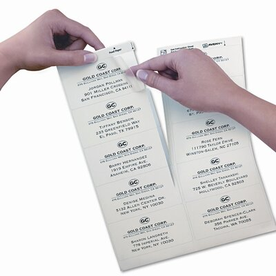 Avery Consumer Products Easy Peel Laser Mailing Labels, 500/Box