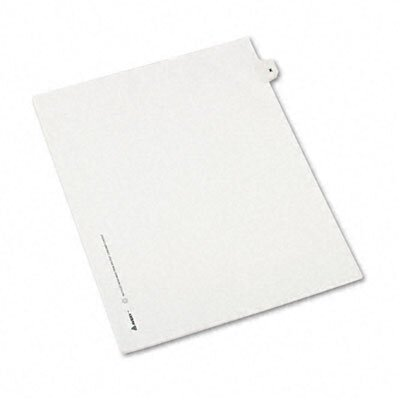 Avery Consumer Products Legal Side Tab Dividers, One-Tab, Title X, Letter, 25/Pack