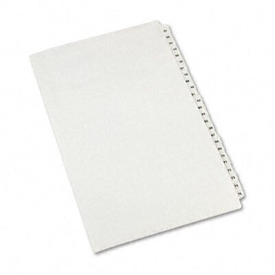 Avery Consumer Products Avery-Style Legal Side Tab Divider, Title: 51-75, 14 x 8 1/2, White, One Set