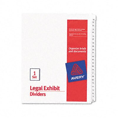 Avery Consumer Products Allstate-Style Legal Size Tab Dividers, 25-Tab, 51-75 Tab Title (Set of 25)