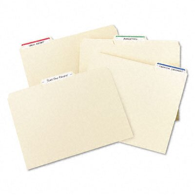 Avery Consumer Products File Folder Typewriter Labels, 3-7/16 x 15/16, Dark Blue, 252/Pack