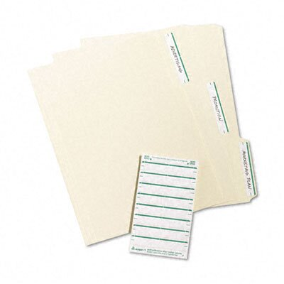 Avery Consumer Products Adhesive File Folder Typewriter Labels, 3-7/16 x 15/16, Green, 252/pack