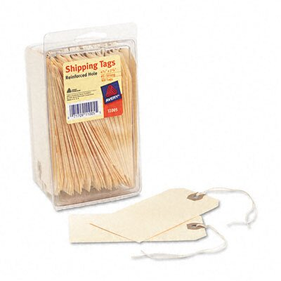 Avery Consumer Products Shipping Tags, 2 3/8 X 4 1/4 (100/Pack)