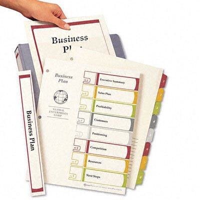 Avery Consumer Products Ready Index Contents Dividers