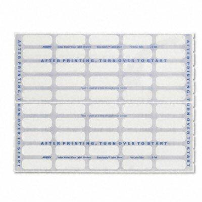 index maker clear label dividers 5 tab letter 5 sets pack wayfair supply. Black Bedroom Furniture Sets. Home Design Ideas