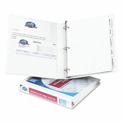 "Avery Consumer Products Durable Vinyl View Binder, 11 x 8-1/2, 1"" Capacity"