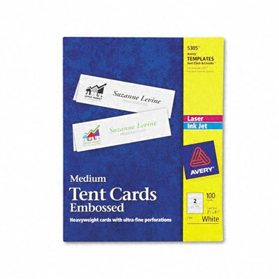 Avery Consumer Products Tent Cards, 2 Cards/Sheet, 100 Cards/Box
