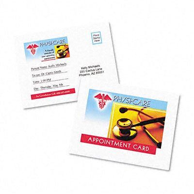 Avery Consumer Products Laser Postcards, Two Per Sheet, 100 Cards/Box